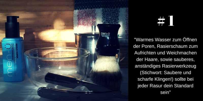 Warmes Handtuch öffnet die Poren