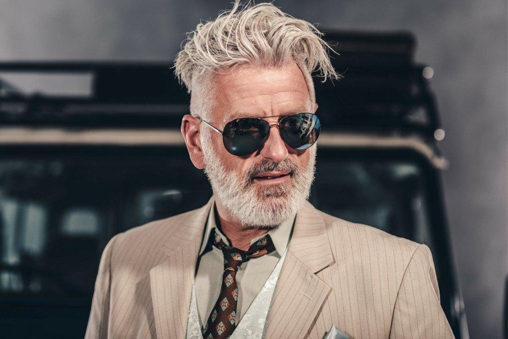 Frisuren männer haare coole graue Coole Männer