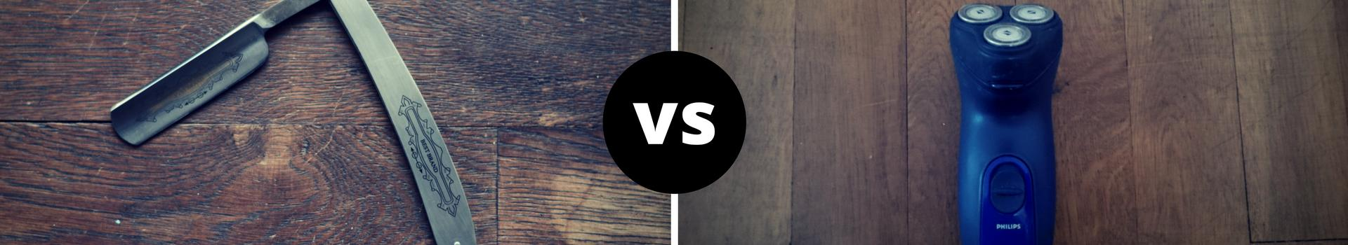 Rasiermesser vs Trockenrasierer