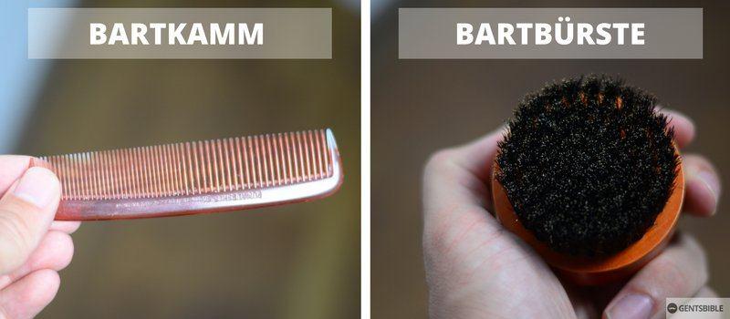Bartbürste und Bartkamm im Vergleich