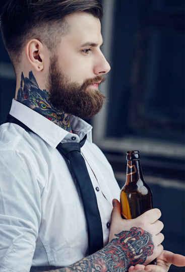 Männer mit Bart sind attraktiver