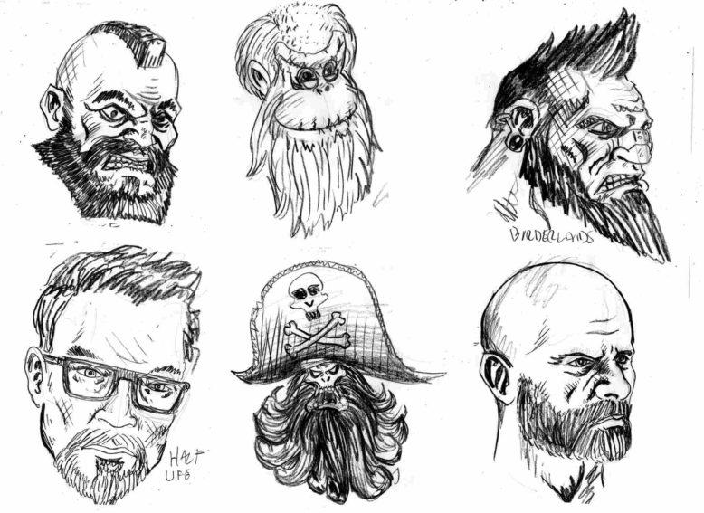 Zeichnungen Bärte
